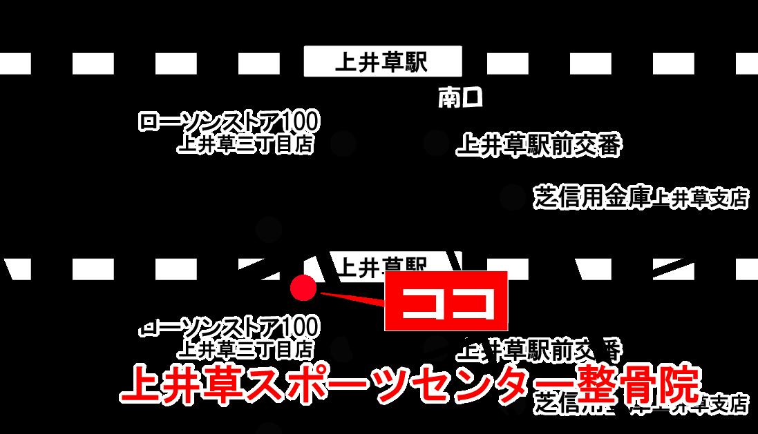 上井草スポーツセンター整骨院 地図