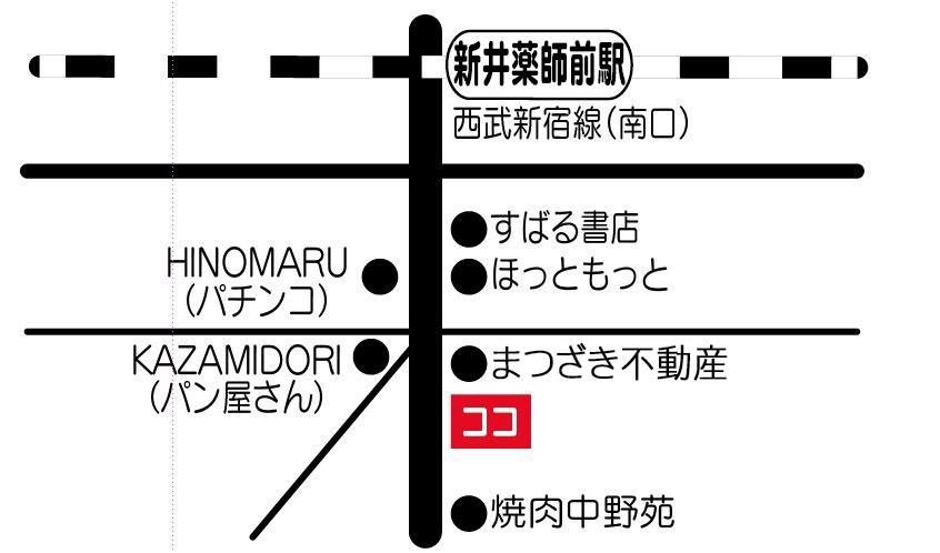 笑顔道 ナカノのセイコツイン 地図