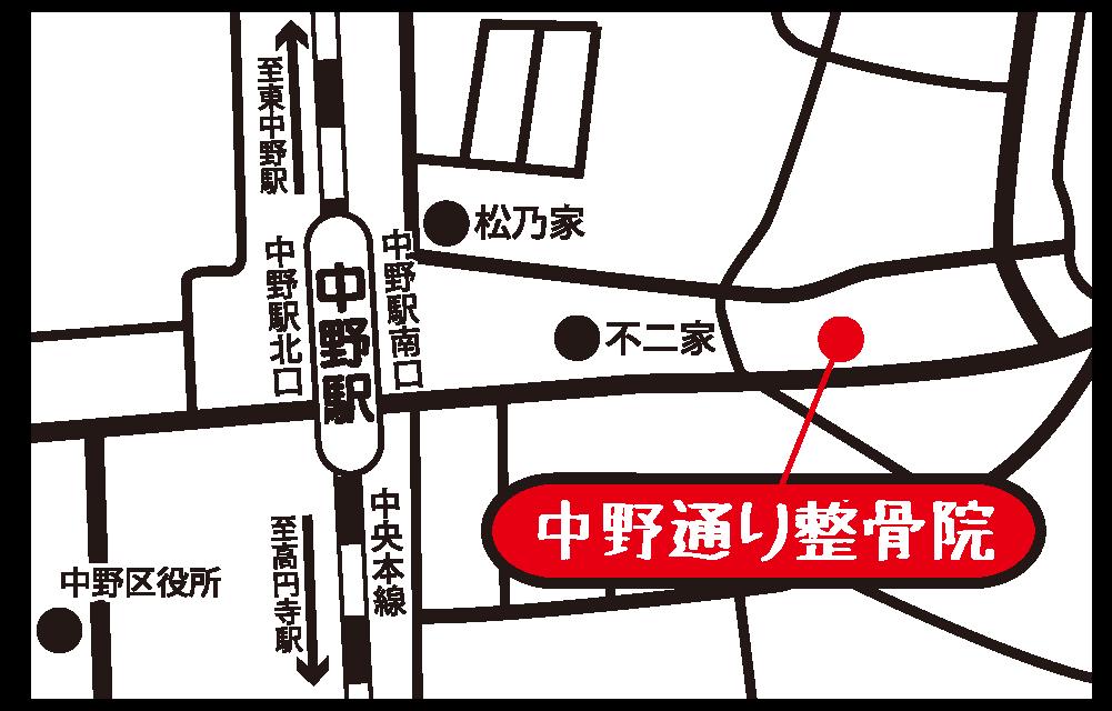 中野通り整骨院 地図